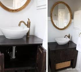 Diy Rustic Bathroom Vanity Hometalk