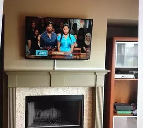 How To Build In A Gas Fireplace How To Hide Cable Wires When Mounting Tv Over Fireplace