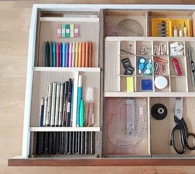 DIY Desk Drawer Organizer With Sliding Trays From