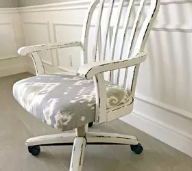 pretty office chairs how to upholster a dining room chair makeover and fix roller wheels hometalk