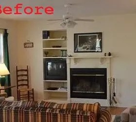 living room fireplace off centered turquoise accents fixed an center hometalk