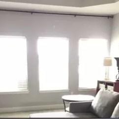 Modern Farmhouse Living Room Curtains Paint Ideas With Blue Carpet Refresh Diy Drop Cloth