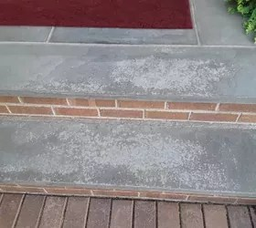 how to clean discolored bluestone