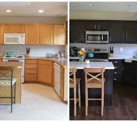 kitchen cabinet makeovers small scale 9 inspiring before and after hometalk cabinets makeover bold contrast
