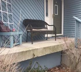 poured concrete patio steps
