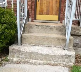 covering an ugly concrete porch hometalk
