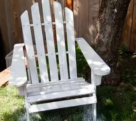 paint for adirondack chairs chair cover quilting how to spray wooden hometalk