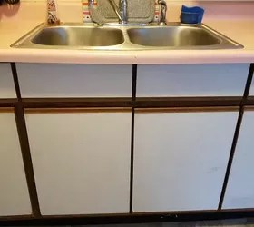 redo my kitchen target furniture how could i ugly laminated cabinets hometalk q