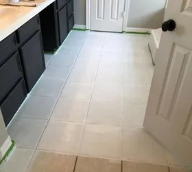 how to paint your outdated tile floor