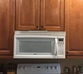 space above my microwave above range