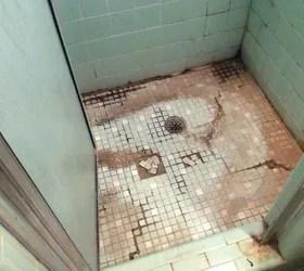how to re tile shower floor hometalk