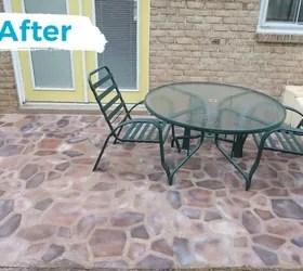 faux flagstone patio hometalk