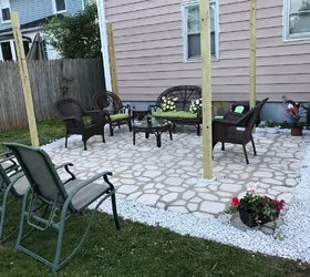 diy patio with walkmaker mold hometalk