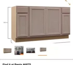 kichen island sink base cabinet