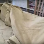 How To Make A Quick And Easy No Sew Bed Skirt From Drop Cloth Hometalk