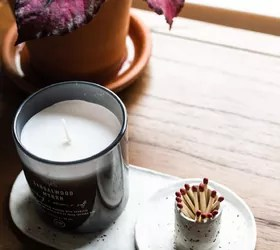 air dry clay candle match holder