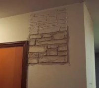 Plain Walls Are Transformed in to Stone Walls With Joint ...