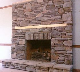 Manufactured Stone Veneer that I installed in drystack over a drab brick fireplace  Hometalk