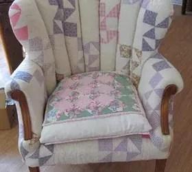 Patchwork Quilt Chair Hometalk