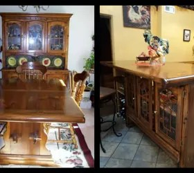craigslist kitchen island storage cabinets from dining room set to upcycled | hometalk