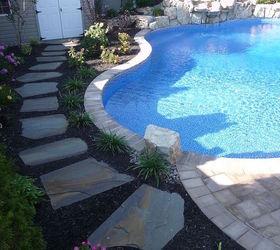 raised patios flower beds