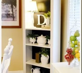kitchen bookshelf gadget stores hometalk a simple white dramatically changes with some black paint