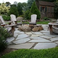 Portable Lawn Chairs Berkline Lift Chair Natural Flagstone Patio & Fire Pit | Hometalk