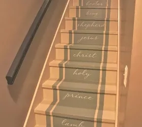 Stairway To Heaven We Removed Our Old Stained Carpet And Updated | Decorative Carpet For Stairs | Rectangular Cord Treads | Gingham | Brown | Animal Print | Stair Runner Matching Landing