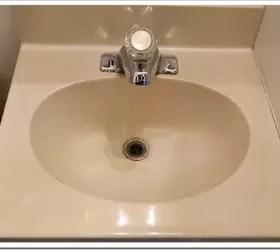 i painted the bathroom sink hometalk