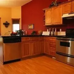 Oak Cabinet Kitchen Red Backsplash 5 Top Wall Colors For Kitchens With Cabinets Hometalk Design Paint