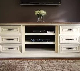 Our New Entertainment Center Made From An Old Dresser