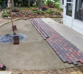Installing pavers over your existing patio is a great way to change the look of your outdoor