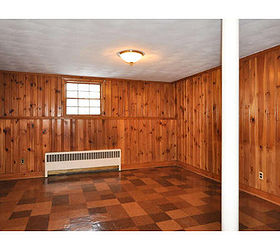 Cover Fireplace With Drywall Painting Knotty Pine Panelling | Hometalk