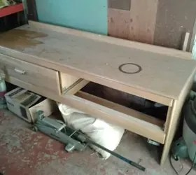 old hotel credenza made into entryway or bed bench. | hometalk