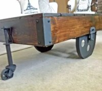 DIY Factory Cart Coffee Table | Hometalk