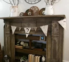 A faux fireplace with pallet shelving  Hometalk