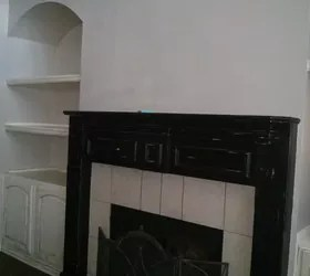 Fireplace In French Chalk Painted Fireplace Mantel | Hometalk