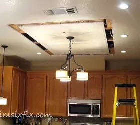 ReplacingUpdating Fluorescent Ceiling Box Lights With