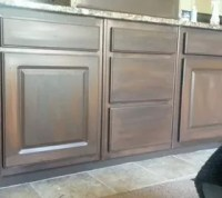 White Cabinets Painted to Look Like Wood | Hometalk