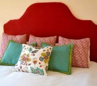 DIY Fabric Covered King Size Headboard