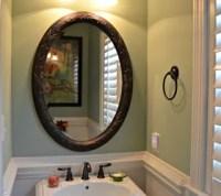 Half Bath makeover using beadboard Wallpaper and Behr ...