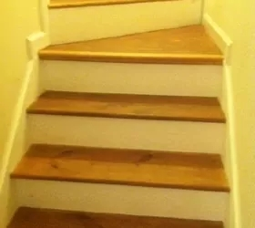 Help On Renovating Carpeted Staircase Hometalk   Particle Board Stair Treads   Uncarpeted   Mdf   Refinish   Rough Cut   Recycled