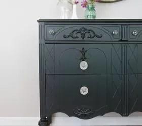 A Black Dresser With Glass Knobs Hometalk