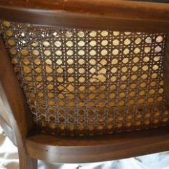 How To Cane A Chair Fabric Kitchen Chairs With Arms Damaged Gets Makeover Pics Hometalk Before She Was Beauty But The Torn
