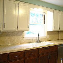 How Much Are Kitchen Cabinets Beadboard Removing Old Laminate Backsplash | Hometalk