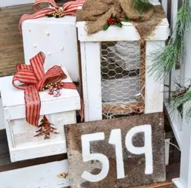 Make Pretty Light Up Wooden Presents For Your Porch Lighting Porches Seasonal Holiday