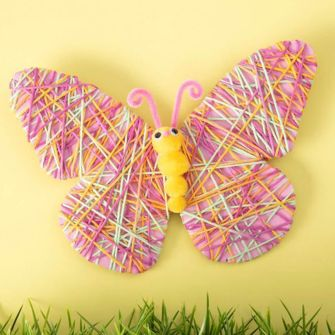 How To Make A Yarn Wrapped Butterfly