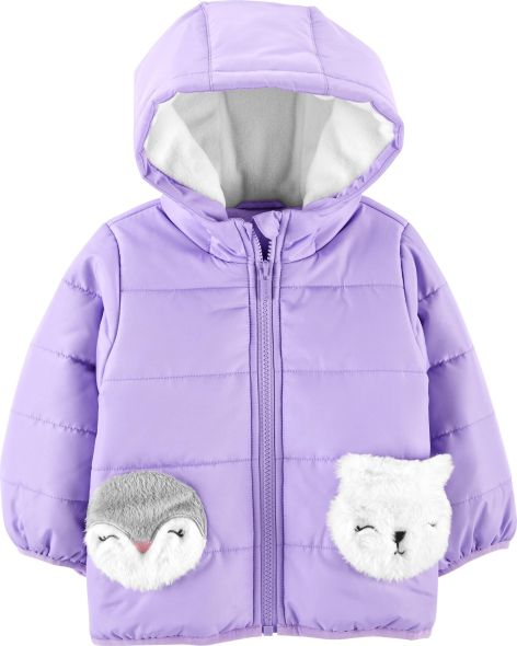 Carter's Baby Girls Fleece Lined Critter Puffer Coat; Courtesy of Amazon