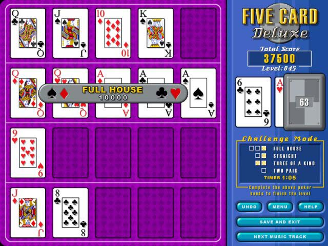 Play Five Card Deluxe > Online Games  Big Fish