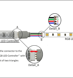 how to wire a dmx system with rgb colour led strip lights wiring 12v led wiring diagram for rgb [ 2728 x 1304 Pixel ]